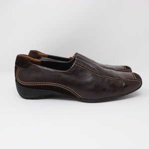 Paul Green Size 7 Brown Lucy Loafers Slip On